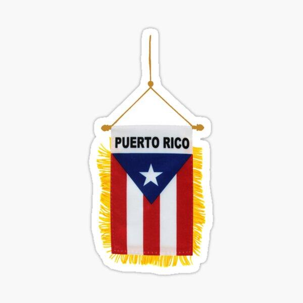 Puerto Rican Hanging Window Flag Banner Sticker