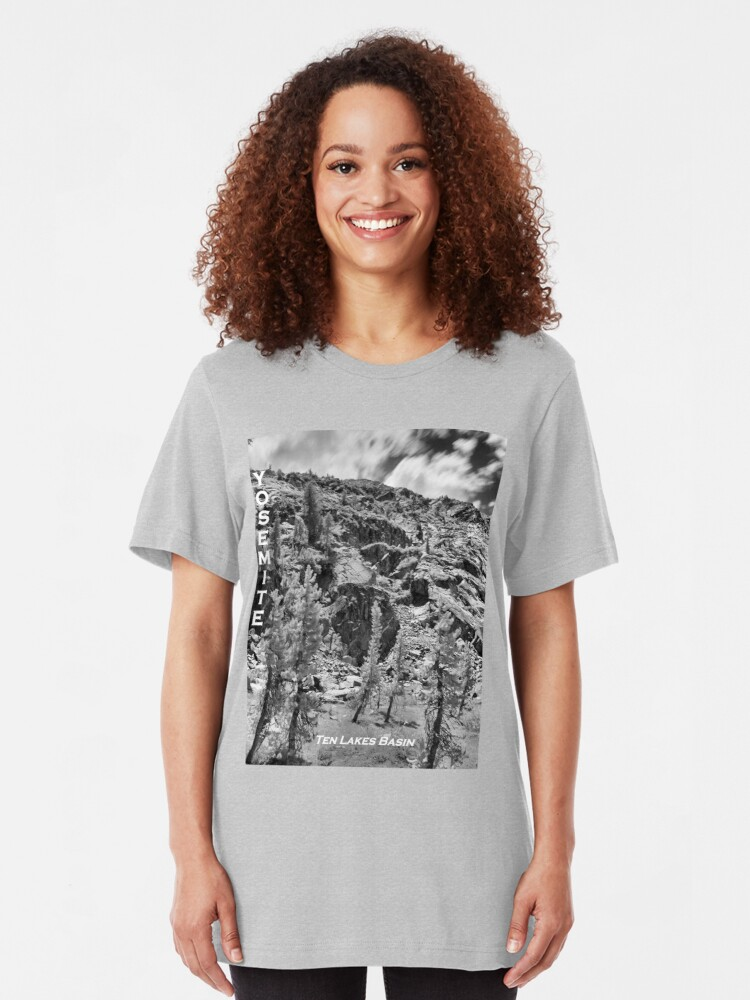 Alternate view of Ten Lakes Basin - Yosemite N.P. Slim Fit T-Shirt