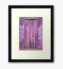 the door to the paint shed * Framed Print