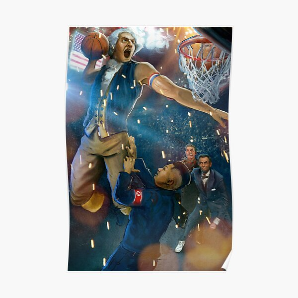George Washington dunking on Kim Jong Un Poster