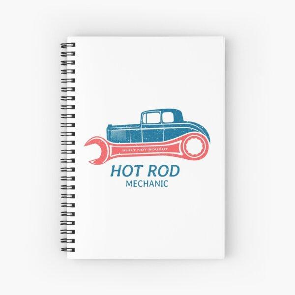 Hot Rod Mechanic Spiral Notebook