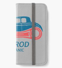 Hot Rod Mechanic iPhone Flip-Case/Hülle/Skin