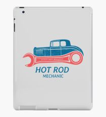Hot Rod Mechanic iPad-Hülle & Klebefolie