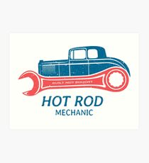 Hot Rod Mechanic Kunstdruck