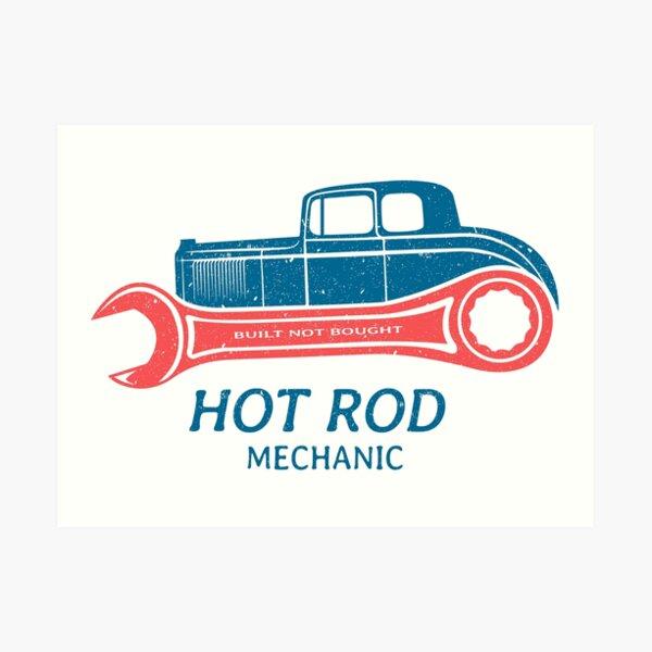 Hot Rod Mechanic Art Print