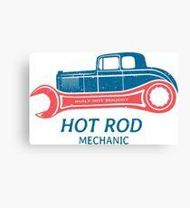 Hot Rod Mechanic Leinwanddruck
