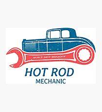 Hot Rod Mechanic Fotodruck