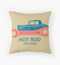 Hot Rod Mechanic Kissen