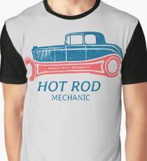 Hot Rod Mechanic Grafik T-Shirt