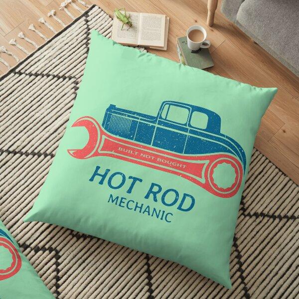 Hot Rod Mechanic Floor Pillow