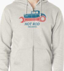 Hot Rod Mechanic Hoodie mit Reißverschluss