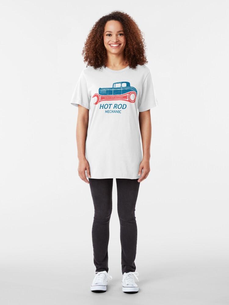 Alternative Ansicht von Hot Rod Mechanic Slim Fit T-Shirt