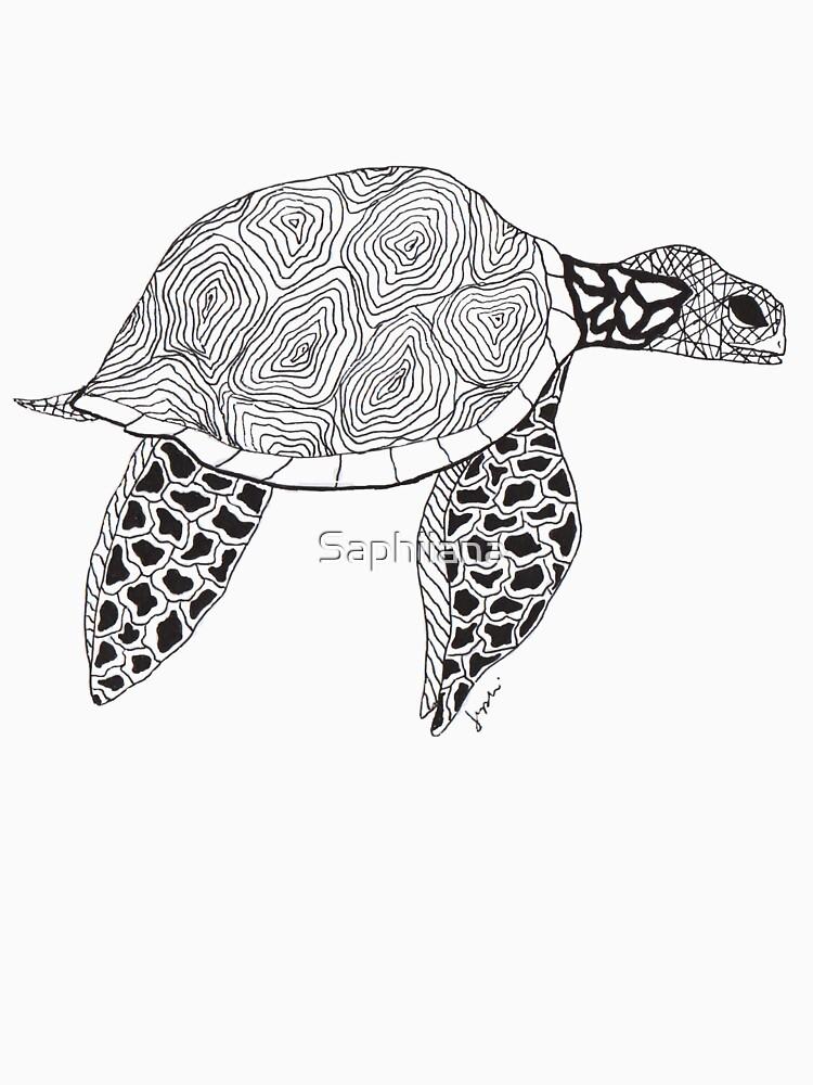 """Trippy Turtle"" T-shirt by Saphiiana   Redbubble"