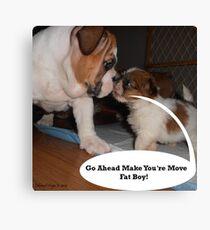 English Bulldog Humor Canvas Print