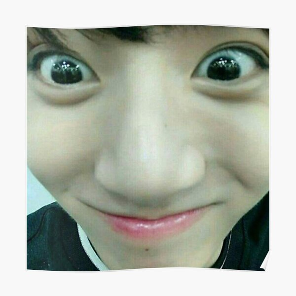 Taehyung Meme Face Poster By Coolturd Redbubble