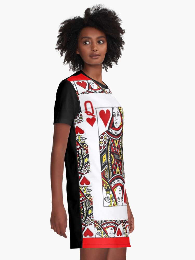 Alternate view of QUEEN OF HEARTS PLAYING CARDS ARTWORK  Graphic T-Shirt Dress
