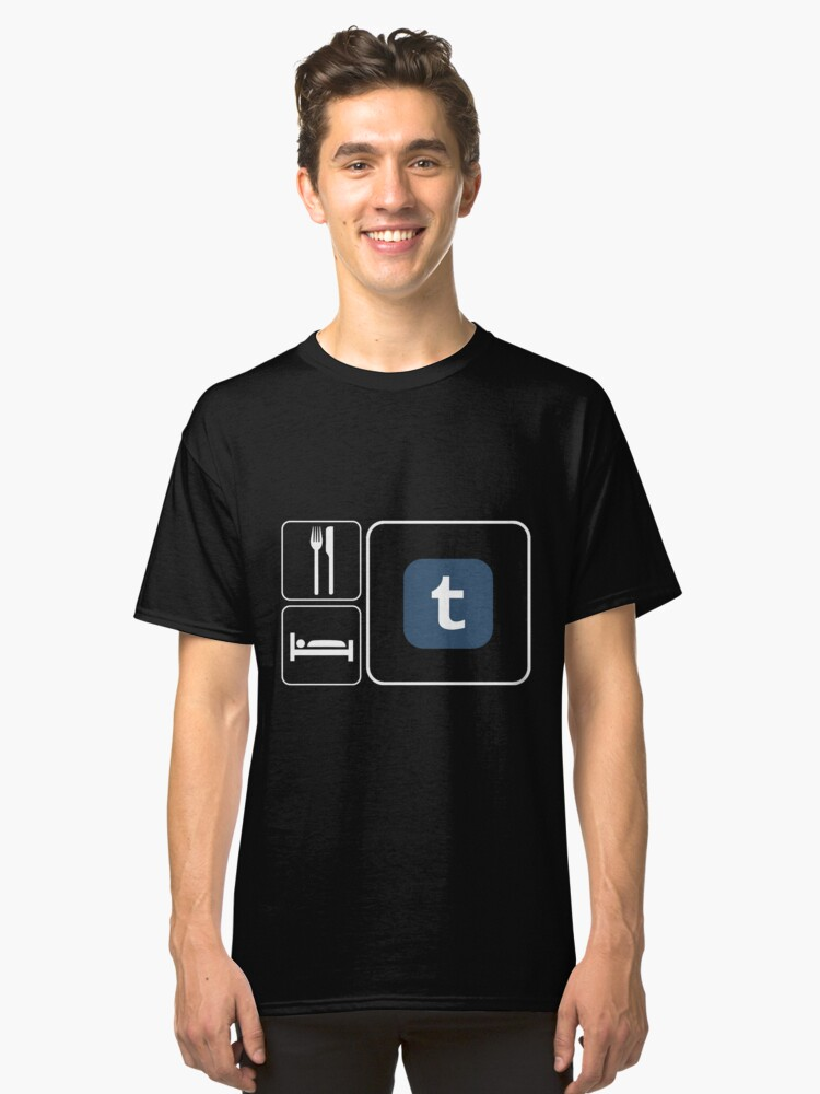 Food Sleep Tumblr Classic T-Shirt Front