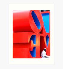 Turning a corner on love Art Print