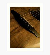 Australian Blackwood Guitar Art Print