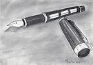 Fountain Pen Sketch  by Martina Fagan
