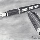Fountain Pen Sketch  by Martina Fagan