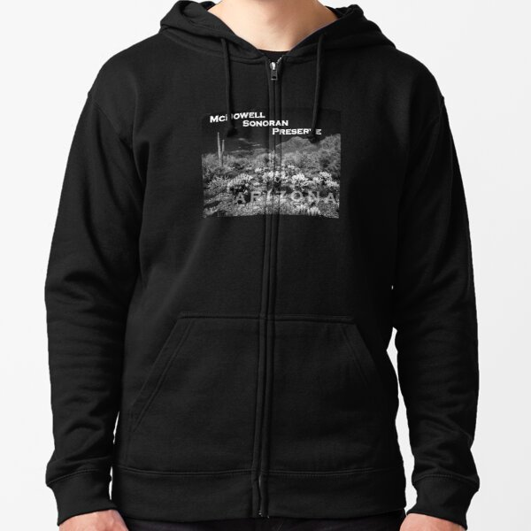 McDowell Sonoran Preserve, Scotsdale Arizona Zipped Hoodie