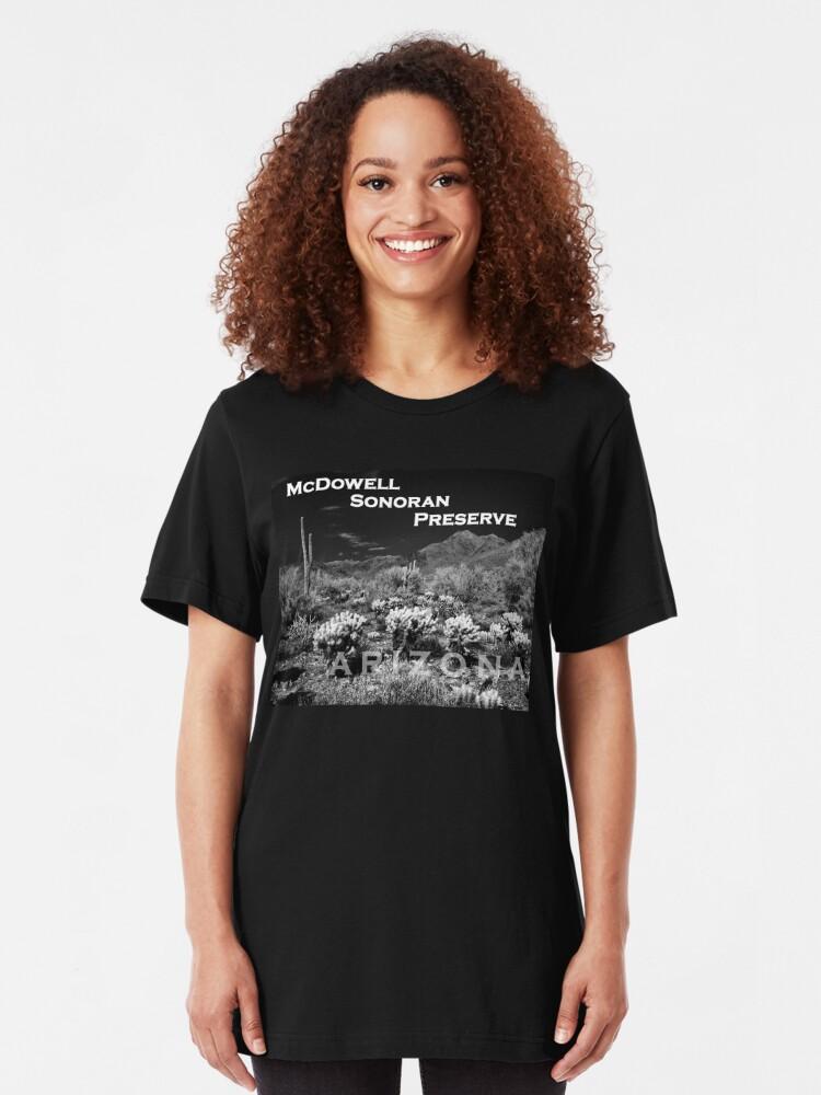 Alternate view of McDowell Sonoran Preserve, Scotsdale Arizona Slim Fit T-Shirt