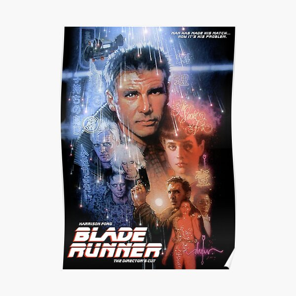 Blade Runner Director's Cut Movie Poster Poster