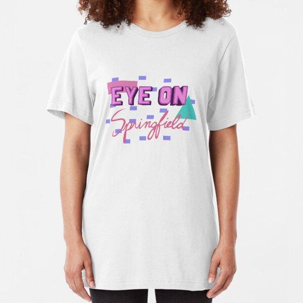 Eye on Springfield The Simpsons Kent Brockman Slim Fit T-Shirt