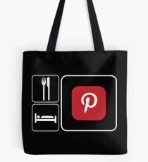 Food Sleep Pinterest Tote Bag