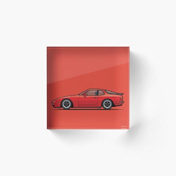 India Red 1986 P 944 951 Turbo (US spec) Acrylic Block