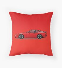 India Red 1986 P 944 951 Turbo (US spec) Throw Pillow