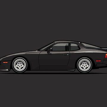 Black 1986 P 944 951 Turbo (US spec) by monkeycom