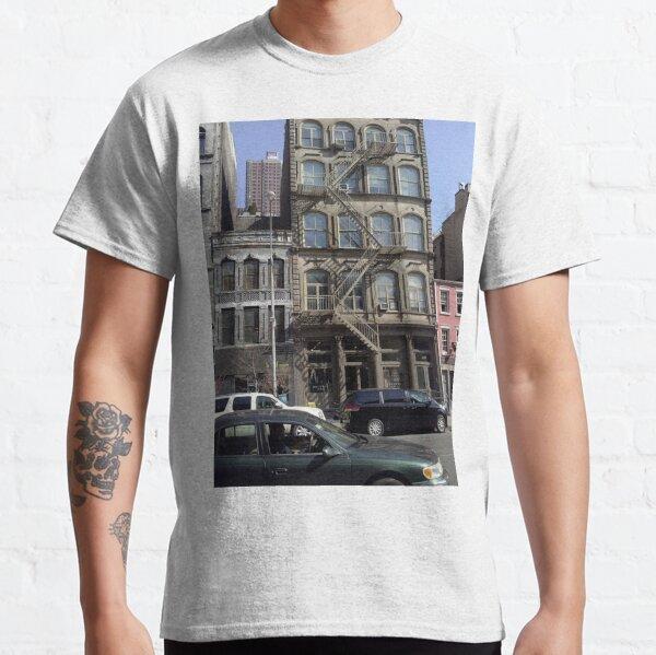 #facade, #windows, #architecture, #street, #city, #town, #LocalLandmark, #downtown, #NewYorkCity, #NYC Classic T-Shirt
