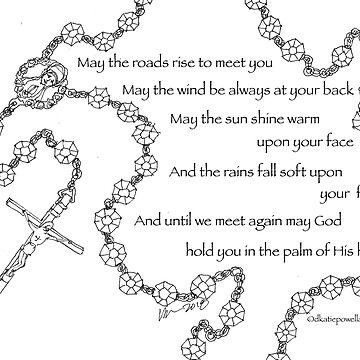 Rosary Gaelic Prayer by dkatiepowellart