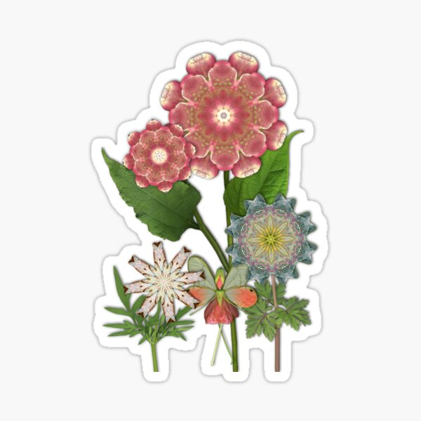 Flowers and Fairies of the Mystic Gardens Sticker