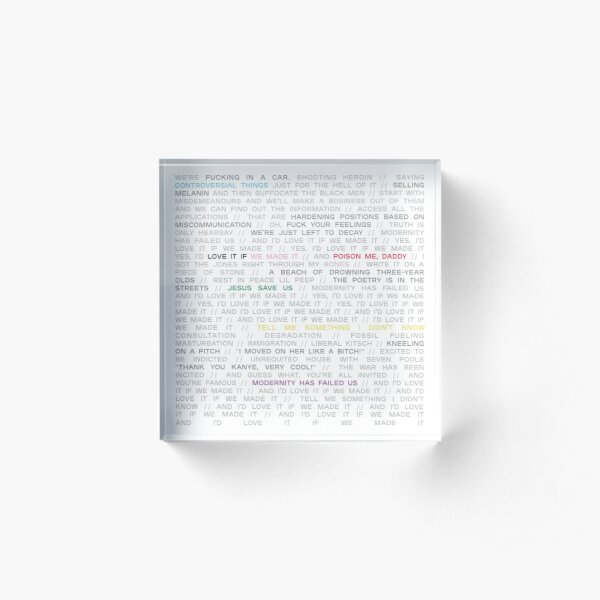 love it if we made it / a brief inquiry into online relationships - the 1975 Acrylic Block