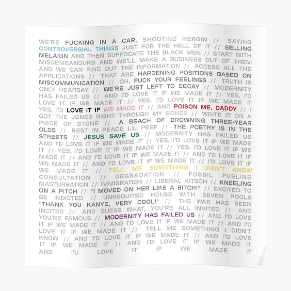 love it if we made it / a brief inquiry into online relationships - the 1975 Poster
