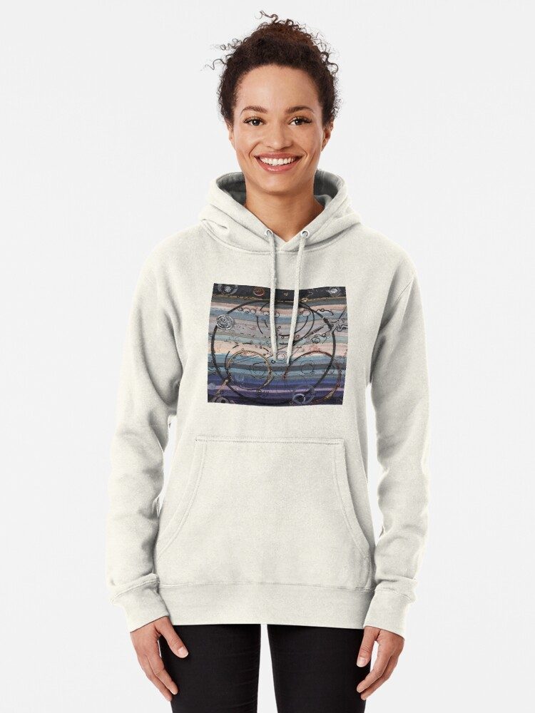 Alternate view of Space race ink on paper Pullover Hoodie