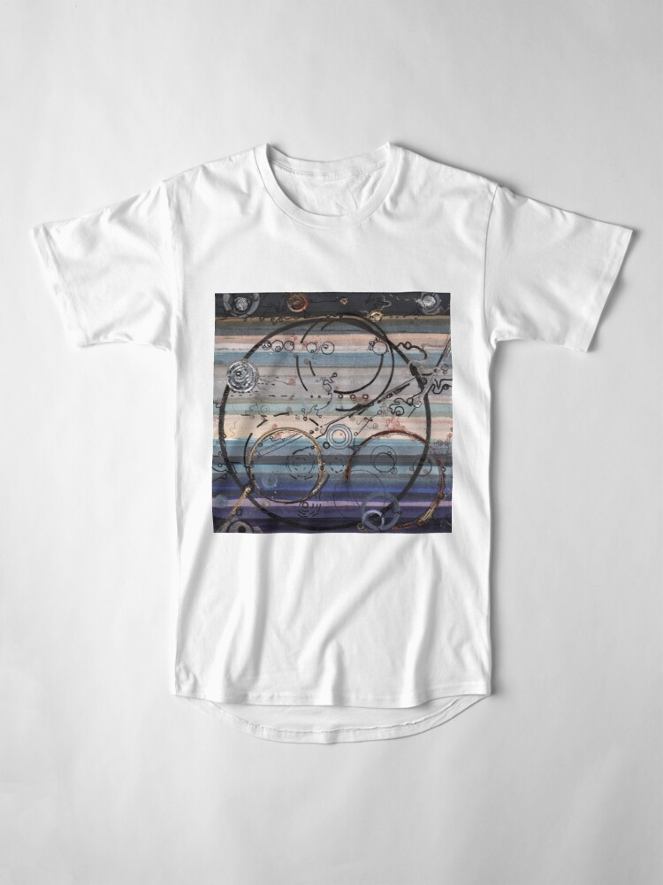 Alternate view of Space race ink on paper Long T-Shirt