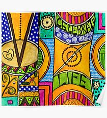 Living a VIBRANT Life Poster