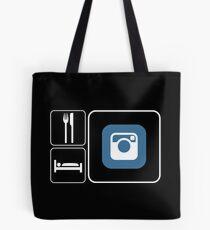 Food Sleep Instagram Tote Bag