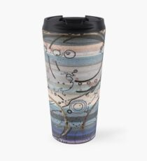 Space race ink on paper Travel Mug