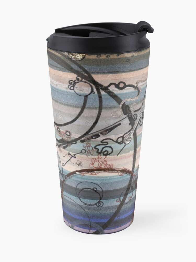 Alternate view of Space race ink on paper Travel Mug