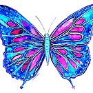 Pretty in Blue - Butterfly by Linda Callaghan