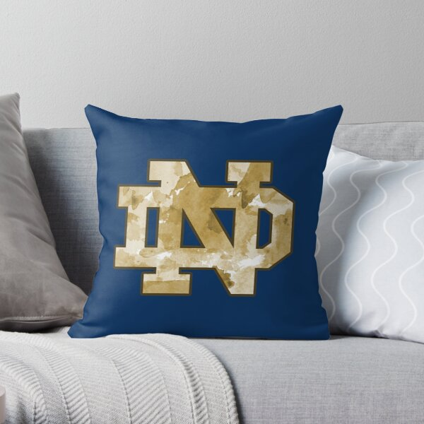 Notre Dame Gold Watercolor Throw Pillow