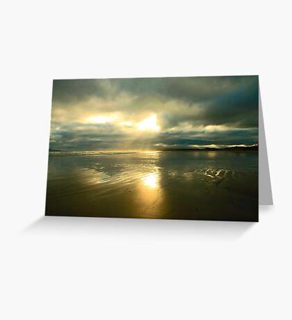 Radiant beach Greeting Card