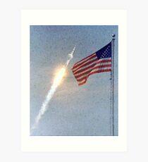 Lift Off - Apollo 11 Artwork / Digital Painting Art Print