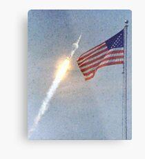 Lift Off - Apollo 11 Artwork / Digital Painting Metal Print