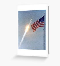 Lift Off - Apollo 11 Artwork / Digital Painting Greeting Card